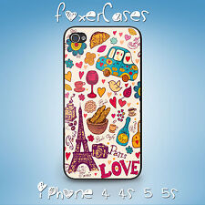 Cute Vintage Paris Wallpaper Case Cover for iPhone and Samsung Galaxy
