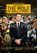 The Wolf of Wall Street Movie Poster A3 / A4