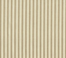 "84"" French Country Ticking Stripe Linen Beige Fabric Shower Curtain Cotton"