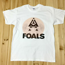Foals Rock Music Band Tee T-Shirts Unisex Mens Womens White 100% Cotton FS003
