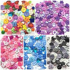 50 x Mix Wooden & Resin Buttons, craft scrapbook cardmaking, 4 colour ranges