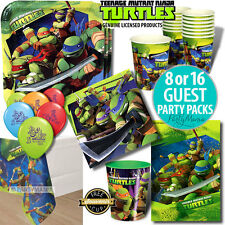 TEENAGE MUTANT NINJA TURTLES TMNT BIRTHDAY PARTY SUPPLIES PARTY PACK PLATES CUPS