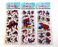 5 10 or 50 x Childrens Kids 3D SPIDERMAN Sticker Stickers Sheets Party Bag Fill