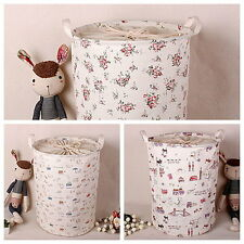 Cartoon Zakka Dustproof Stackable Linen Storage Laundry Basket Bin Case SNYT003