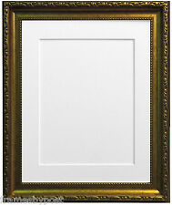 Shabby Chic Gold Photo Pictures Frames With a Selection of Coloured Mounts