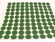 Green Felt Dots Surface Protector Pads 3/8 Inch Footies
