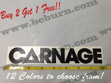 Carnage vinyl decal sticker music dj trap dubstep laptop 12 colors to choose!