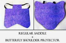 2 Purple Specks Chicken Saddle Hen Apron Chicken Wing Poultry Back Protector