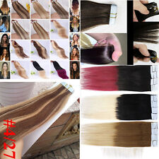 New 20PCS 18 Inch 40g Super Skin Tape in Remy Human Hair Extensions Straight