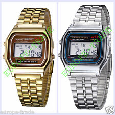 CLASSIC RETRO VINTAGE STYLE GOLD - SILVER DIGITAL WATCH