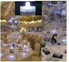 lot 10 led decoration vase mariage Luxe centre de table etanche violette + bille