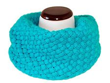 Double Texture Knitted Infinity Circle Tube Cozy Warm Fall Fashion Scarf