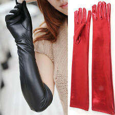 New Sexy Vogue Women Girls Noble 44-52cm Leather Elbow Finger Long Gloves