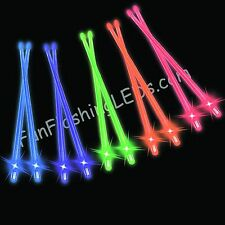 NEW LIGHT UP DRUMSTICKS glow Drum STIX batteries included FREE SHIPPING!
