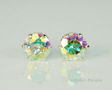 Genuine Mercury Mystic Topaz Round Sterling Silver Earrings (Free Shipping)
