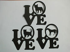 10 SILHOUETTE LOVE CAT, HORSE OR ANY DOG BREED TOPPERS CAR TOPPERS