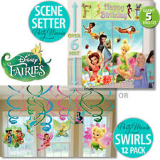 TINKERBELL FAIRIES  BIRTHDAY PARTY SUPPLIES SCENE SETTER OR SWIRL DECORATIONS