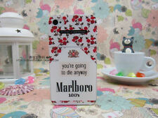 For iPhone 4 4S 5 5S flower cigarette case going to die Back Cover Case Skin