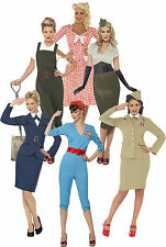 1940s 40s Wartime Womens Fancy Dress Costumes Army Navy Land Girl World War 2