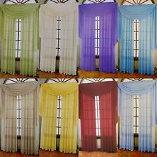 """New 1PC 37"""" x 216"""" Polyester Fabric Sheer Scarf Valance Multicolor Available"""