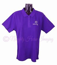 TWO HORSES GROOMING HORSE POLO SHIRT LADIES TOP SHIRT BRAND NEW #3