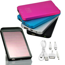 2600mAh Universal USB Solar Charger Power Bank for Mobile Cell Phone Camera