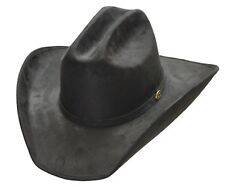 Western Black Suede Cattleman Cowboy Hat Waterproof Rodeo Men's Woman'n S,M,L,XL