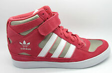 Womens New ADIDAS FORUM UP W HI HEEL Pink Suede Trainers Q22076