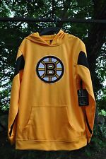 BOSTON BRUINS GENUINE MERCHANDISE NHL YOUTH PULLOVER GOLD WITH SEWN ON LOGO- NWT