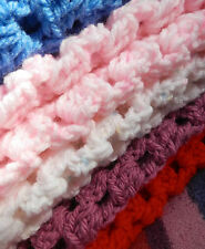 Handmade Chunky MEDIUM Size Crochet Blanket/Throw BABY-VARIOUS COLOURS Boy/Girl