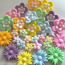 PICK YOUR OWN PASTEL FLOWERS FOR CAKES sugarpaste cupcake blossoms edible topper