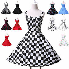 Vintage Stunning 40s 50s 60s Rockabilly Prom Party Pinup Housewife Evening Dress