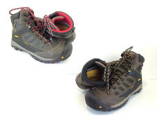 KEEN Mens Tucson Mid Steel Toe Waterproof Work Boots Olive Green & Red