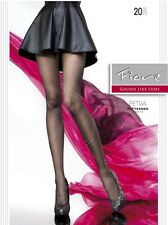 Fiore Petra 20D Line Patterned Summer Sheer Sexy Tights (size S, M, L) Hosiery