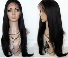"4*4 silk top Glue less wig Human Hair Indian Remy Full Lace free style 14""-22"""