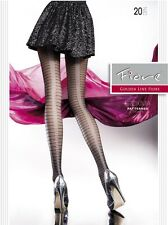 Fiore Proxima 20D Sheer to Waist Stripe Patterned Fashion Tights (size S, M, L)