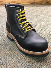 Men's Skechers Cascades Casual Lace Up Logger Boot Black 7210 BOL