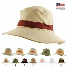 Women Men Cotton Outdoor Hunting Hiking Fishing Beach Sun Bucket Boonie Cap Hat
