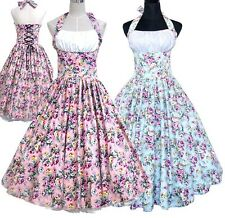 Ture Vintage Retro Dancing Swing Rockabilly Party 50s 60s Ball Tea Dress 2Cols