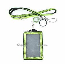 5mm 3 IN 1 Crystal Watch and Necklace Lanyard with Vertical ID Badge Holder