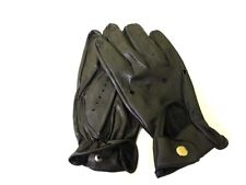 MENS BLACK LEATHER UNLINED DRIVING DRESSING MOTORCYCLE BIKER GLOVES NEW #1010