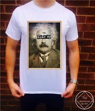 Wake Up T Shirt Top Womens Mens Hipster Supreme Triangle Einstein Conspiracy