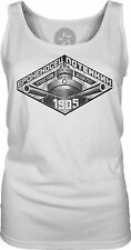 Russian 1905 Vintage Poster (Black) Womens Singlet Tank-Top T-Shirt