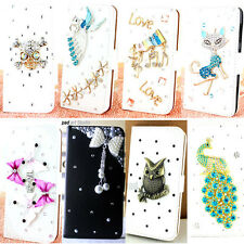 bling Leather Flip Case Card holder wallet stand Cover Pouch diamond for HTC