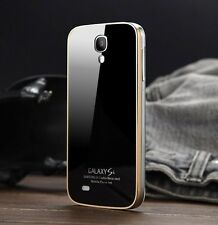 Toughened glass backboard Metal Back Cover Case for Samsung galaxy S4 i9500
