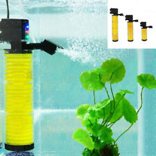 3 in 1 Multi Function Fish Tank Aquarium Internal Filter Pump Oxygenation 3-LED