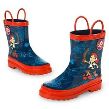 NEW NWT DISNEY STORE JAKE AND THE NEVERLAND PIRATES RAIN BOOTS RAINBOOTS - NLA
