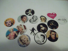 Pre Cut One Inch Image - OH MY! ELVIS AND MARILYN MONROE  Free Shipping IN US