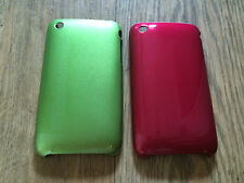 HARD METAL BACK CASE / COVER FOR APPLE iPHONE 3 3GS - GLOSSY COLOURED DESIGNS
