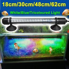 Aquarium Fish Tank Waterproof White&Blue LED Light Bar Lamp Submersible